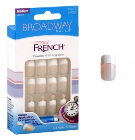 "UÑAS FRANCESAS ""PINK"" FAST FRENCH 24unid BROADWAY"