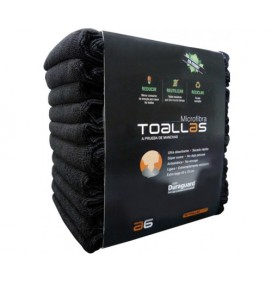 PACK 10 TOALLAS MICROFIBRA COLOR NEGRO ASUER