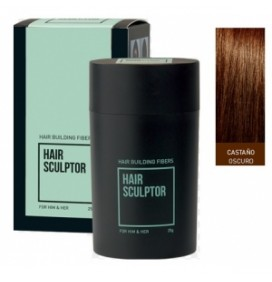 "FIBRAS PARA EL CABELLO HAIR SCULPTOR ""DARK BROWN"" 25gr."