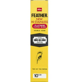 DISTRIBUIDOR 20 CAJAS 10 CUCHILLAS DOUBLE EDGE FEATHER
