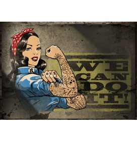 POSTER PIN UP WOMAN WE CAN DO IT