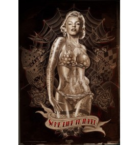 POSTER MARILYN SOME LIKE IT INKED