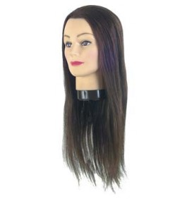 EUROSTIL R­603 MANNEQUIN HEAD FOR ACADEMIES- NATURAL HAIR - LONG