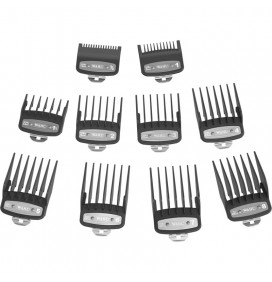 PACK OF 10 WAHL PREMIUM GUIDE ATTACHMENT COMBS