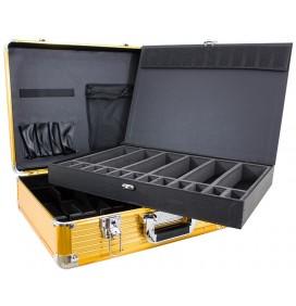 MASTERCASE PROFESSIONAL METALLIC BARBER CASE - GOLD