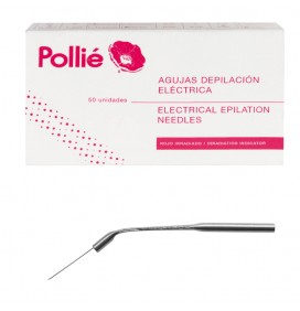 EUROSTIL BOX OF 50 INCLINED NEEDLES OF 1 MM FOR EPILATION
