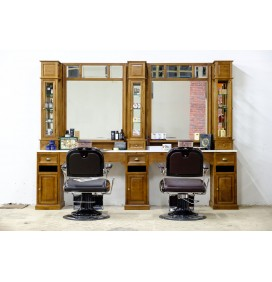 MUEBLE BARBERO CLASSIC TWO BARBER UNITS