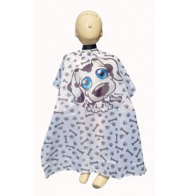 "CHILD'S HAIR CUTTING ""DOG"" VELCRO CAPE"