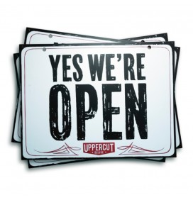 UPPERCUT OPEN/CLOE SIGN