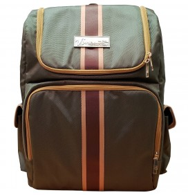 VINCENT HUNTER GREEN BARBER BACKPACK