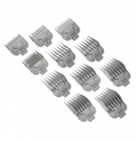 PLASTIC GLIDE COMBS,9 UNITS FOR ANDIS US-PRO / FADE CLIPPERS
