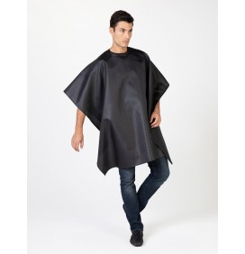 "THE CLASSIC BLUE ""SEERSUCKER"" HAIR CUTTING CLOAK/CAPE"