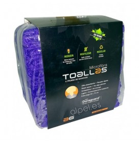 PACK 10 TOALLAS MICROFIBRA COLOR MORADA ASUER