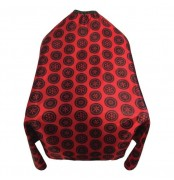 PATTERNED HAIR CUTTING CAPE WITH SNAP CLOSURE