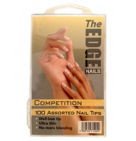 TIPS COMPETICION COLOR NATURAL100und THE EDGE NAILS