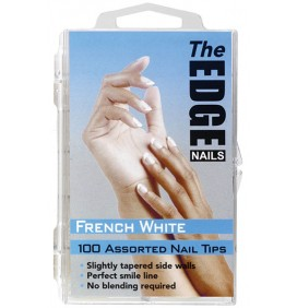 TIPS BLANCOS TIPO FRANCESA 100und THE EDGE NAILS