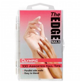 TIPS  DE UÑAS  OLYMPIC  100und THE EDGE NAILS